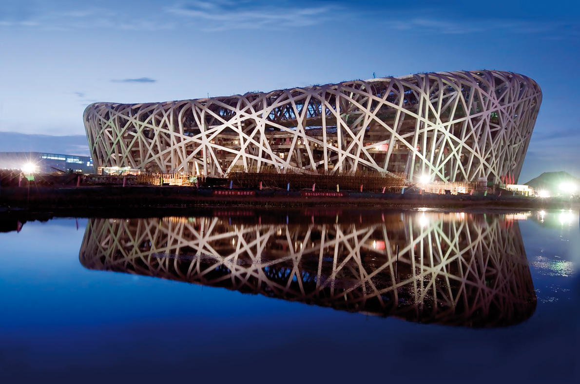 National Stadium, Beijing, China - Special coating based on Amphibolin